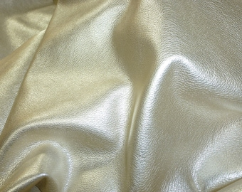 ReSTOCKED PLATINUM Pebbled Metallic 3 or 4 or 5 or 6 sq ft Soft cowhide shows the grain Leather 3-3.25 oz /1.2-1.3 mm PeggySueAlso™ E4100-02