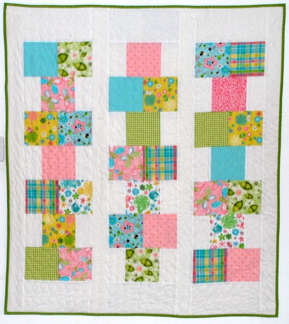 Pdf Baby Quilt Patternquick And Easyhopscotch Charm