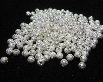 Silver Stardust Spacer Beads 4mm (B16g/404i)