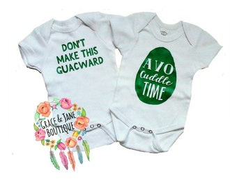 Avocado Twin Onesies, Twin Onesies, Twin Outfit, Twin Clothes, Twin Babies, Twins, Twin Shirts