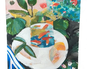 Original Painting - A Study of Matisse The Goldfish Bowl