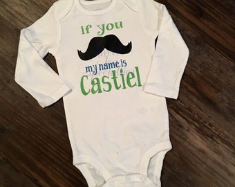 My Name Is, New Baby Baby Announcement, I'm New Here Infant Bodysuit.  Perfect Baby Shower Gift, If you Mustache,Baby Shower