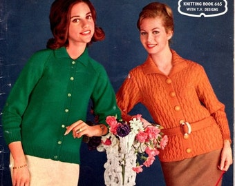 ON SALE ON Sale - Paton's Knitting Pattern No 665 Fashion For Women/Ladies in Patons Totem or Tyrol Sports Wool (Vintage 1960s)