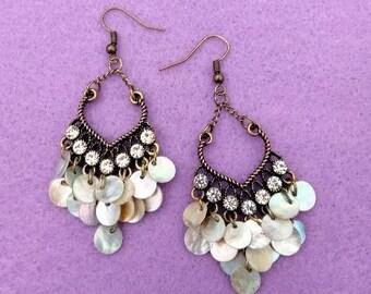 Chandelier Shell Earrings