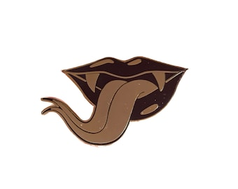Serpent's Tongue Hard Enamel Pin