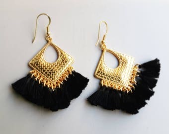 Boho Earrings|Ethnic Boho Dangles|Tassel Boho Earrings|Tassels Earrings|Amazing Earrings|Everyday Earrings|Ethnic Drop Earrings