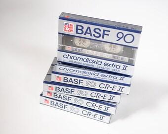 BASF 90 Chromdioxid Extra II Hifi Stereo Cassette Tapes lot 9 Brand New SEALED Music Studio Dj High Fidelity Audiophile 1980s  6