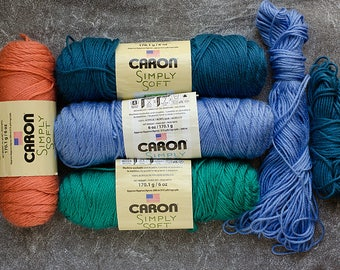 Yarn Destash, Yarn Sale, Clearance Yarn, Caron Simply Soft Yarn, Acrylic Yarn, Yarn for Sale, Yarn Lot, Sale Yarn, Destash Yarn, Caron Yarn