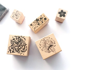 Stamp set bouquet Sauvage flowers flowers
