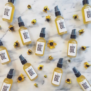 SALE**BODY OIL - 2oz || Hydrating || Healing || Soothing || With herbal infused organic oils || 100% Natural ||