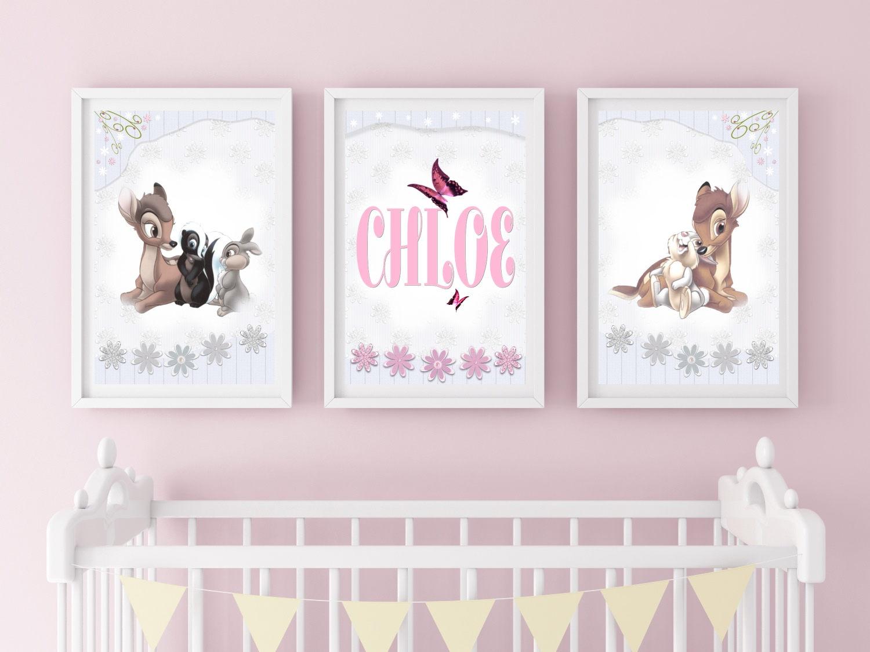 Bambi Kindergarten Disney-Drucke personalisierte Mädchen