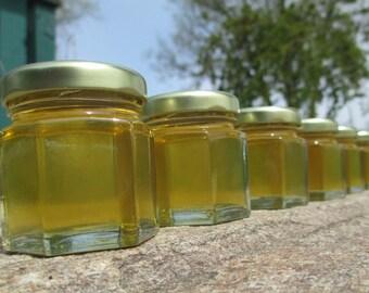 30 Honey Favors - Pure Raw Summer Honey - 2 oz jars