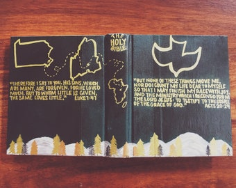 The Ryan Bible // Hand Painted Bible // ESV Journaling Bible // Manly Landscape Theme