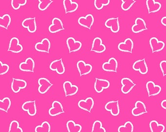 Valentine hearts euro cotton lycra knit 1/2 yard new