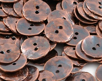 Button-16mm Cornflake-Casting-Antique Copper-Quantity 1