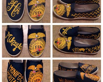 FFA Custom Adult Painted Canvas Shoes