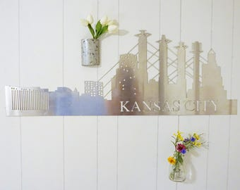 Kansas City Skyline Metal Decor