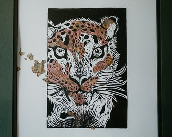 Gilded snow leopard