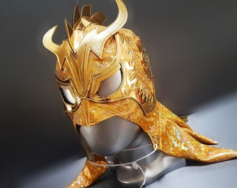 Ultimo Dragon wrestling mask luchador costume wrestler lucha libre mexican mask maske cosplay
