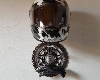 helmet holder, brake disc, chain