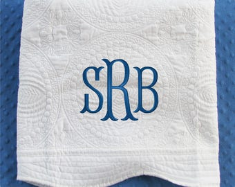 Personalized Baby Blanket, Monogrammed Baby Quilt, Personalized Baby Quilt, Monogrammed Baby Blanket, Baby Girl, Baby Boy, Baby Shower Gift