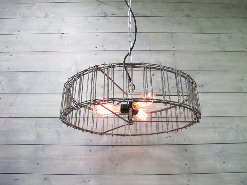 Modern industrial chandelier 16 or 20 diameter galvanized grey steel gallery photo aloadofball Gallery