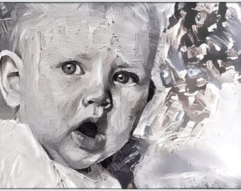 Custom Digital Paintings - Baby Portraits!