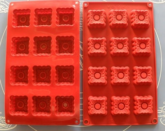 Prints 12 Silicone mold / pastries 28.5 X 17 CM