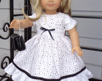 "Spring Dress for 18"" Dolls. Made in USA fits American Girl, Our Generation Dolls"