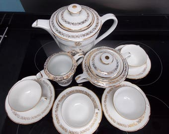 French vintage porcelain coffee set afternoon tea wedding