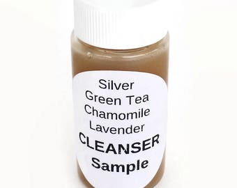 Colloidal Silver Moisturizing Soap with Green Tea & Chamomile Extracts SAMPLE - 79% Organic - Acne/Pimples/Rosacea/Dry Skin/Blemishes VEGAN