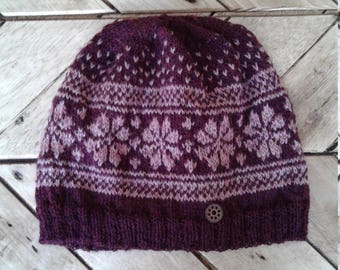 Winter flower hat