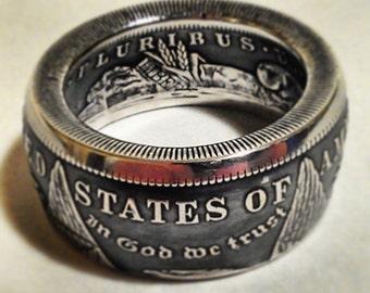 Silver Morgan dollar Coinrings
