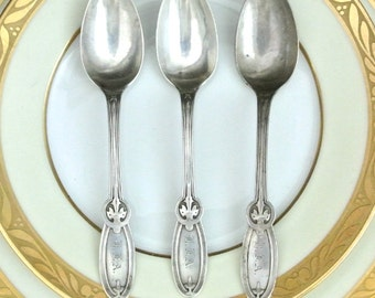 Three Vintage Sterling Silver Teaspoons Gibney by Whiting SALE