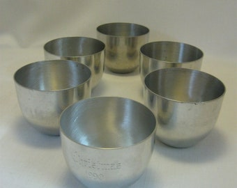 Pewter Cups Goblets Qty 6  Monticello Kirk  ATC Jefferson Cup Stieff Pewter P50 1960