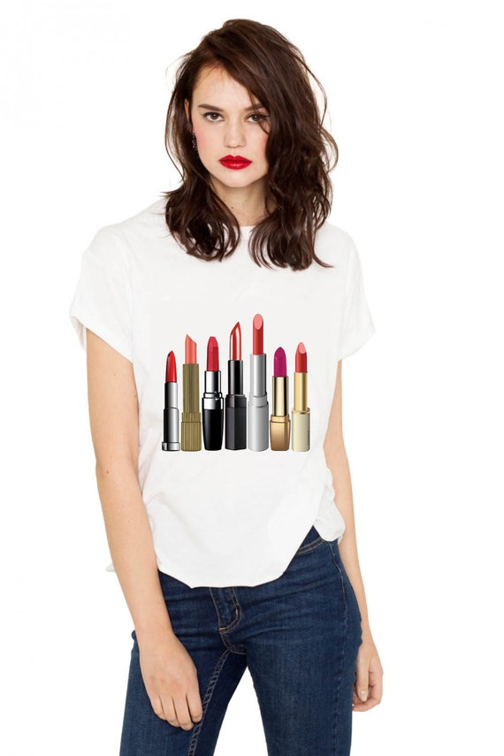 Items Similar To Crazy About Lipstick T-shirt (15-203) On Etsy