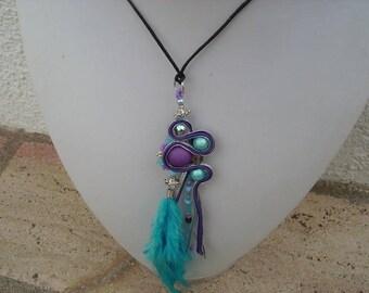 """Soutache necklace """"trap for dreams"""""""