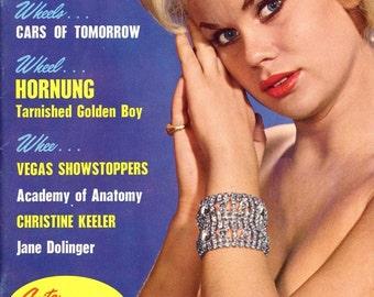 Modern Man Magazine  1963  Anita Anderson Covergirl  Strippers Dancers  Honda Motorcyles Paul Hornung Future Cars  Christine Keeler  mature