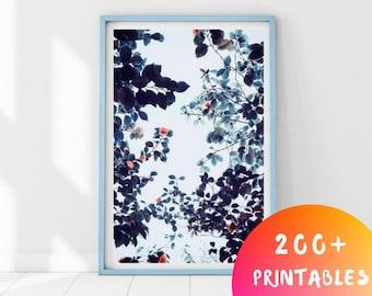 Flowers Print, Botanical Print, Printable Wall Art, Floral Print, Wall Art Prints, Botanical Poster, Flower Wall Art, Botanical Art