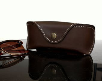 Glasses case for Wayfarer, chocolate brown