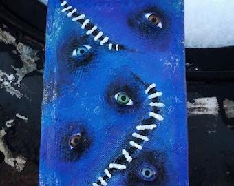 Monster book, eyeball book, hocus pocus, journal, sketchbook, diary, creepy book, spell book
