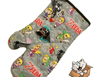 Oven mitt made with Zelda Spirit Tracks fabric