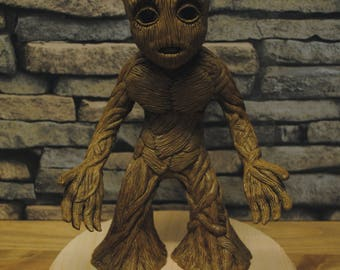 Baby Groot one off sculpture | Handmade | Hand Painted | Avengers