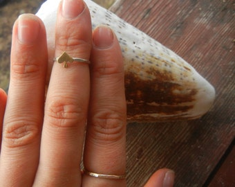 Spade Midi Ring, Stacked Rings, Unique Rings, Stacking Rings