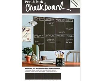 """Peel & Stick Chalkboard 9""""x12"""" sheets 4per package"""