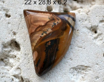 Royal Sahara cabochon. freeform, flawless.  22 x 28.8 x 6.2