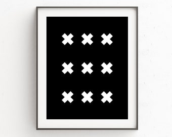 Black and White Art Geometric Wall Art Geometric Art Dining Room Wall Art Geometric Print Modern Art  Instant Download Digital Art Print