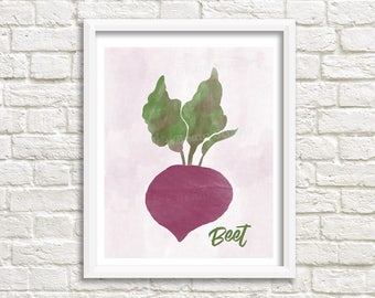 beet art print - beet watercolor - gift for cook - beetroot - dining room art - vegetarian print - hostess gift idea - cook gift