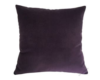 Purple Velvet Suede Decorative Throw Pillow Cover / Pillow Case / Cushion Cover / 18x18""