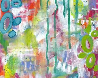 "Inspirational Art - ""Live Vibrantly"" - 8.5x11 Print"